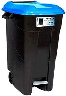 Tayg - Contenedor residuos con pedal, 120 litros, azul