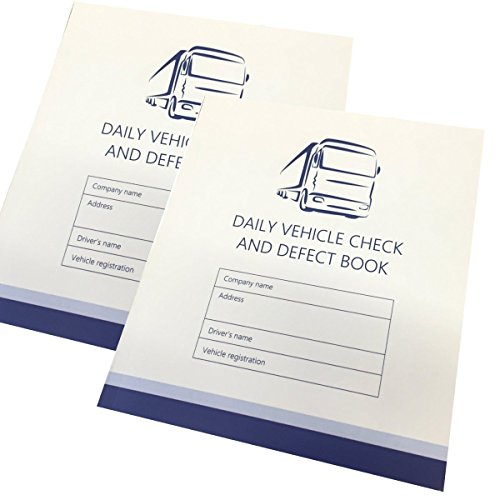 (Pack of 2) Daily Check Driver Defect Book HGV Truck Van 50 Page Defect Fault...