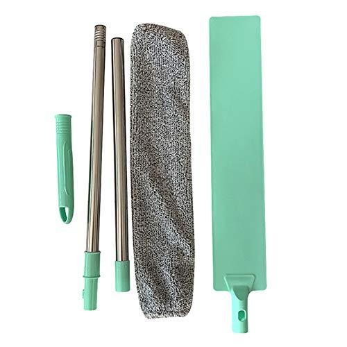 Godob Spazzolino da Polvere per Comodino Manico Lungo Mop Spazzola Riutilizzabile per spolverino in Microfibra