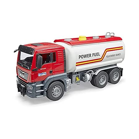 Bruder Spielwaren GmbH + Co. kg- Bruder Comm Autocisterna Mantgs 3775, Multicolore, 837278