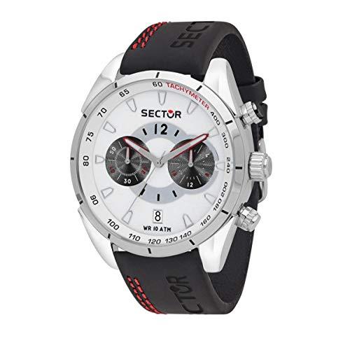 Sector No Limits Herren Analog Quarz Uhr mit Leder Armband R3271794017