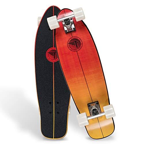 """Flybar Skate Cruiser Boards – 24"""" – 27.5 Strong 7 Ply Canadian Maple Complete Skateboards - 60mm PU Wheels High Speed ABEC 9 Bearings"""
