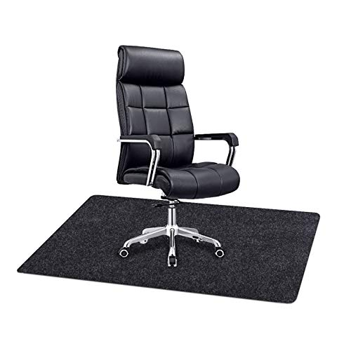 Office Chair Mat Under The Desk Mat Protect Wood Floor,Reduce Noise,Absorbent Material,Waterproof Layer,Anti-Slip,Durable and Machine Washable (Chair Mat: 36inches x 48inches)