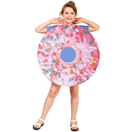 Kids Donut Jumpsuit Cute Party Costume Unisex (Pink Color)