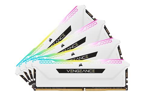Corsair Vengeance RGB Pro SL 32GB (4x8GB) DDR4 3600 (PC4-28800) C18 1.35V - Módulos de Memoria de Alto Rendimiento, Blancas