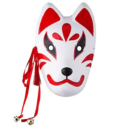 和風 狐 お面 キツネ おめん コスプレ 面 狐面 石膏 コスチューム かわいい 祭り 夏祭り 仮装