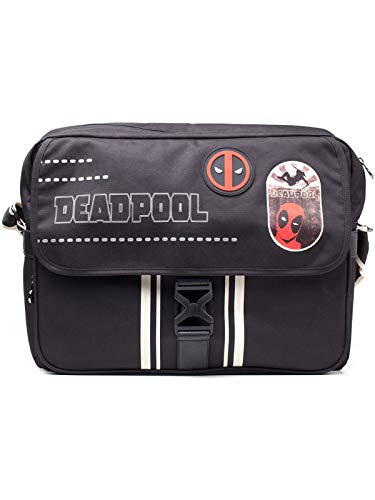 Marvel COMICS COMICS Deadpool Icon Printed Solid Messenger Bag, Black (MB203201DED) Rucksack, 25 cm, 20 liters, Mehrfarbig (Multicolour)