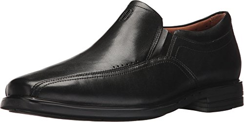 Clarks Men's Unsheridan Go Slip-on Loafer, Black Leather, 9 W US