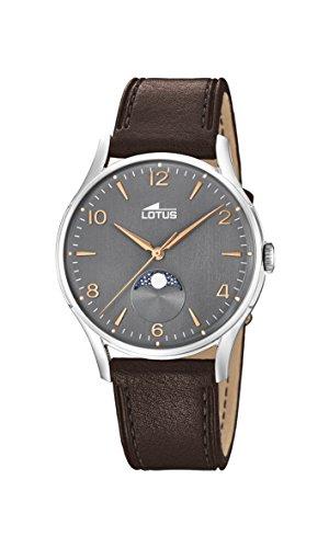 Lotus Watches Reloj Fase Lunar para Hombre de Cuarzo con Correa en Cuero 18427/2