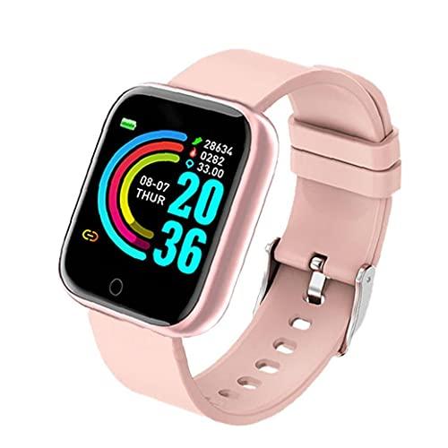 Smart Watch HD Touch Screen Fitness Trackers Uhr Y68 Sport wasserdicht Band mit Blutdruck-Pulserkennung Rosa, Elektronische tragbare Geräte Smartwatch