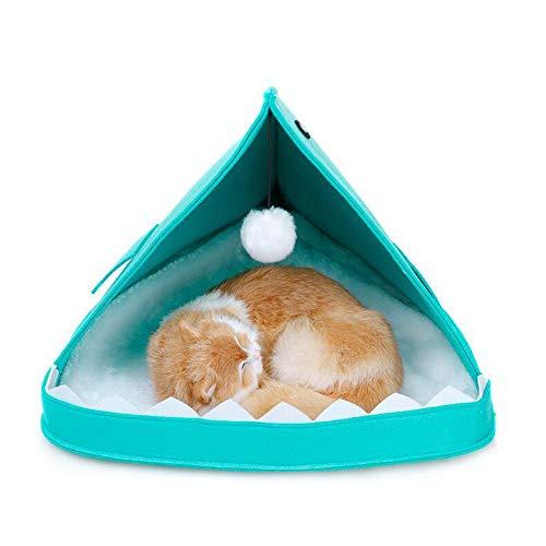 Zacht Warm Huisdier Verwarmde Mat Kleine Hondenmand Opvouwbaar Hondenhok Puppy Kennel Huis voor Katten Slaapzak Nest Cave