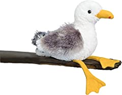 Seymour the Seagull plush toy features a realistic design that will appeal to people of all ages. This cuddly seabird stuffed animal is made with high quality plush fabrics and soft polyester fill, designed to hold up to a lifetime of love and advent...
