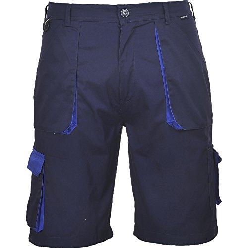 Portwest TX14NARXL Pantaloni Corti Texo, Blu Navy, XL, 60% cotone, 40% poliestere