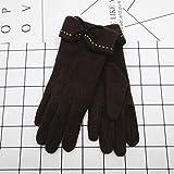 Elegante Frauen Weibliche Handschuhe Wolle Touchscreen Damen Handschuhe Bogen Vollfinger Handschuh Winter Warme Handschuhe WAAQTT