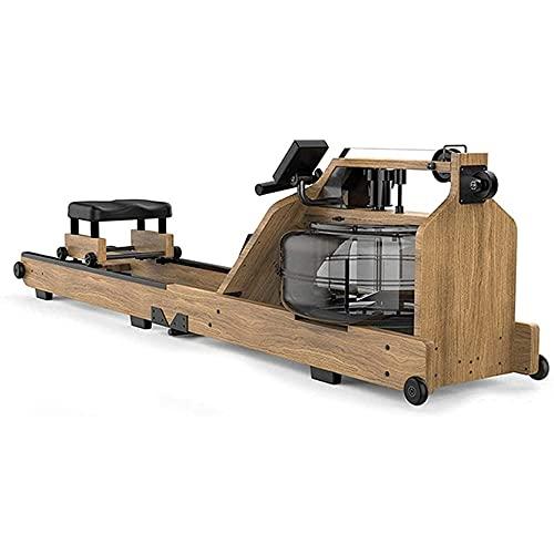 LSQR Máquina De Remar Inicio Máquina De Remo De Madera Reposapiés Ajustable Fácil De Almacenar con Pantalla LCD para Uso Doméstico Ejercicio Físico