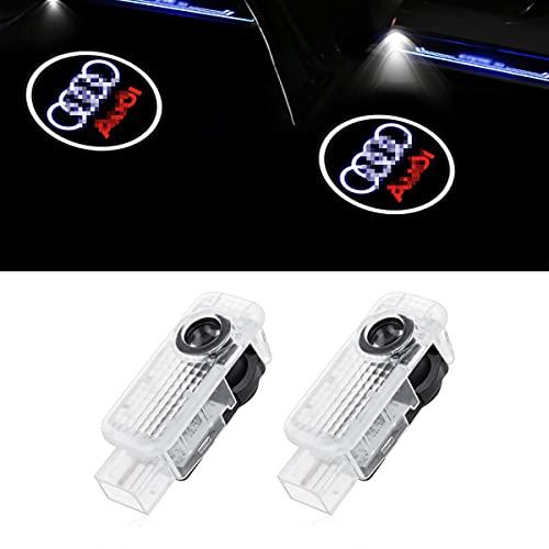 Car Door Logo Projector Lights, 2 Pack Car Door LED Welcome Lights for A4/A5/A6/A7/A8/Q3/Q5/Q7 Series, Automotive Lighting Accessories
