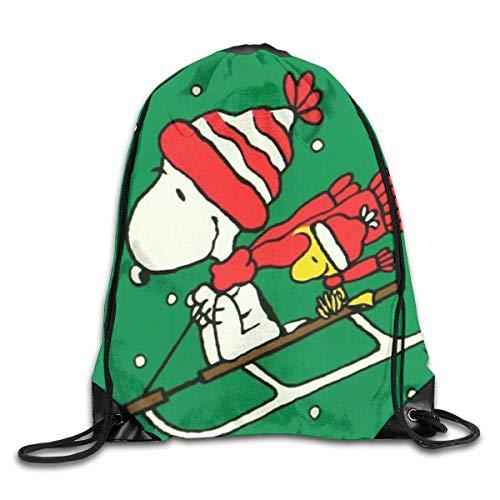 zicheng Skiing Drawstring Bag Print Shoulder Bags Sackpack Sport Gym Backpack Storage Bag