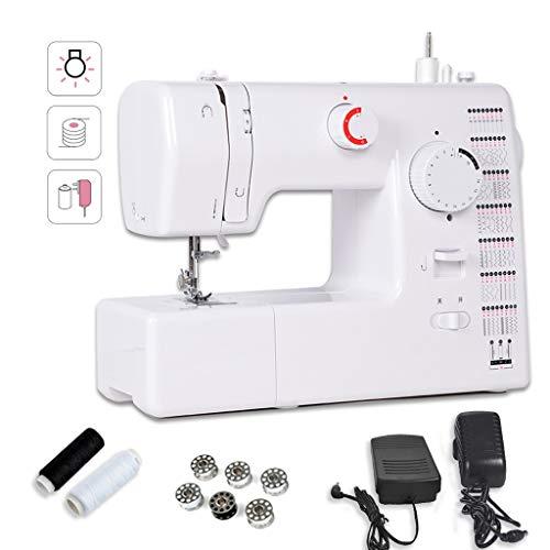 Naaimachine, voor beginners, draagbaar, professionele naaimachine, wit