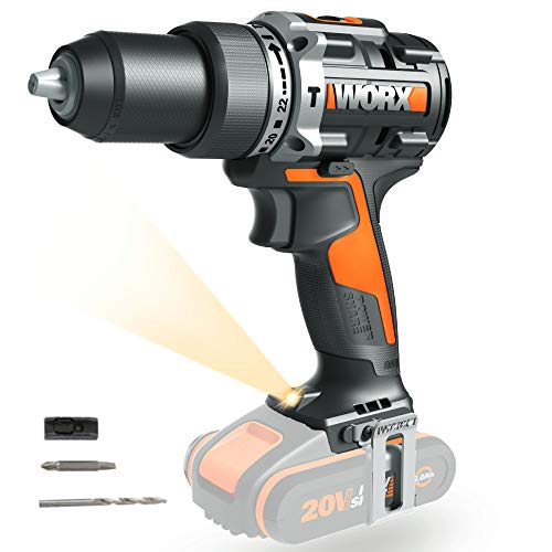 Worx WX352.9 - Taladro Percutor Brushless 20V S/bat