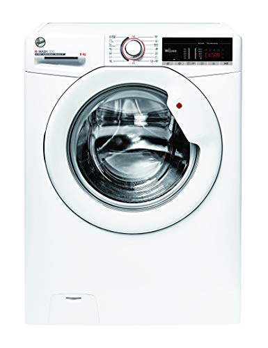 Hoover H-WASH 300 H3WS 485TE-S Waschmaschine / 8 kg / 1400 U/Min / Smarte Bedienung mit Wi-Fi und Bluetooth / Spezielle Extra Care-Programme zur Wäschepflege / Active Steam Dampffunktion