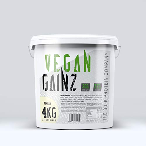 The Bulk Protein Company, Vegan Gainz Powder Plant Based Weight Gainer, Vanilla, 4 kg