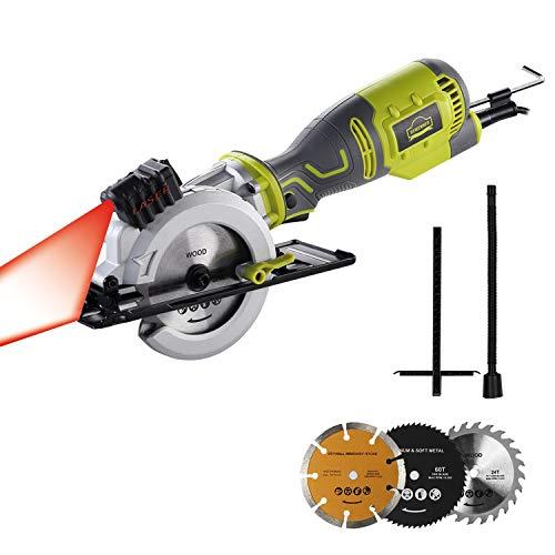 Mini Circular Saw, DEWINNER 705W Compact Electric Saw with 3 Saw Blade,Max...