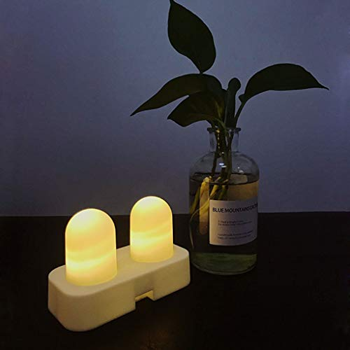 SYQS draadloos opladen LED elektronische kaars verlicht, decoratieve verlichting verjaardag sfeer thuis lamp, warm wit licht nachtlampje voorstellen