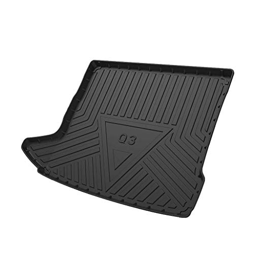 Vehículo de línea de carga trasera, Tronco bandeja de suelo Hoja de alfombra de la estera de la bandeja de equipaje impermeable for Q7 2016-2019 (Size : Audi Q3 2013-2018)