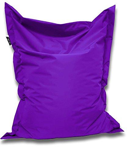 Patchhome Sitzsack und Sitzkissen Eckig - Lila - 100x70cm in 25 Farben und 7 versch. Größen