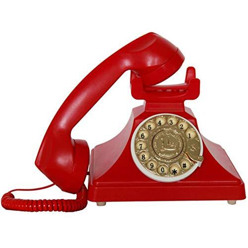 LIUNA Tarjeta De Dial Giratoria Antigua Teléfono Fijo Inalámbrico Vintage Retro(Color:5)