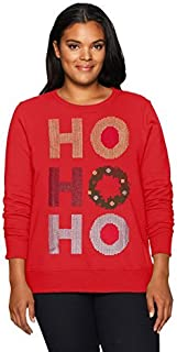 Just My Size Women's Size Plus Ugly Christmas Sweatshirt