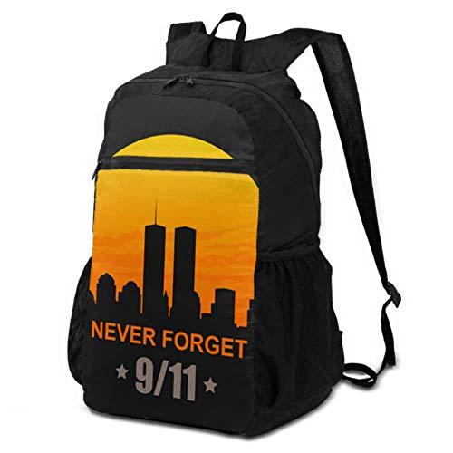 JOCHUAN Backpack Hiking Daypack Women 911 Patriot Day September 11 2001 Hiking Backpack Daypack Foldable Backpack for Boys Lightweight Waterproof for Men & Womentravel Camping Outdoor