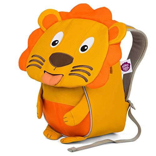 Affenzahn Kleiner Freund - Kindergartenrucksack für 1-3 Jährige Kinder im Kindergarten und Kinderrucksack für die Kita - Löwe - Gelb
