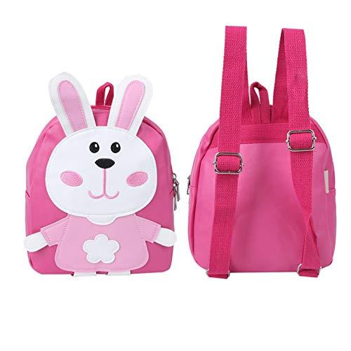 Mochila de jardín de infantes, mochila de dibujos animados de PU, práctica para bocadillos, juguetes pequeños para ir a la escuela, niñas, niños de jardín de infantes(Pink)
