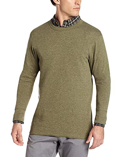 Champion Duofold Men's Originals Wool-Blend Thermal Shirt Olive Heather