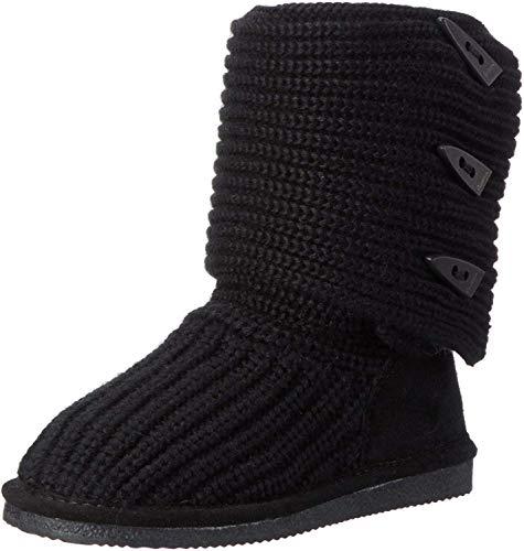 BEARPAW Women's Knit Tall Black Winter Boot 8.5 M US