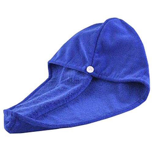 Trockenes Haar Cap Duschhaube Female trockenes Haar-Tuch Blau