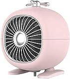 J & J Calefacción eléctrica 400 W, calefacción rápida 3S, con temporizador, termostato ajustable Personal Radiador, Low Noise 45 dB, con protección contra caídas, color rosa