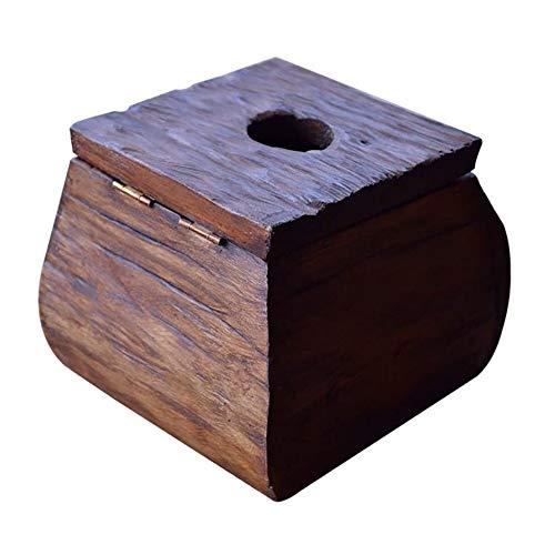 KDEKIFN Caja de pañuelos de Madera Vintage Servilletero de Papel Decoración del hogar Caja de pañuelos Creativo clásico Europeo