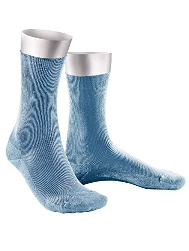 Weissbach Komfort-Socken ohne einschneidenden Gummibund Blau