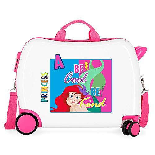 Disney Princesas Maleta Infantil Multicolor 50x38x20 cms Rígida ABS Cierre combinación 34L 2,1Kgs 4 Ruedas Equipaje de Mano