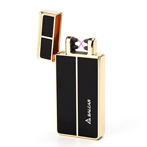 Salcar- USB elektronisches Feuerzeug aufladbar lichtbogen (Gold)