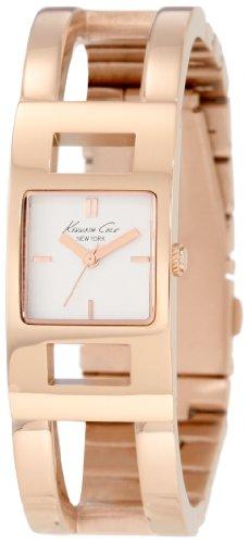 Kenneth Cole KC4767 - Reloj analógico de Cuarzo para Mujer con Correa de Acero Inoxidable, Color Dorado