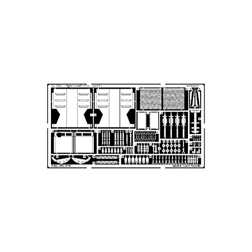Eduard Accessories 35305 Kit de modélisme Tiger I Version E/H1 pour Italeri