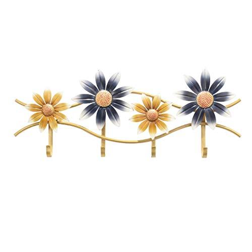 Percheros de pared Gancho de la capa de hierro Forma de flores americana Monedero de la cubierta de la capa creativa de la...