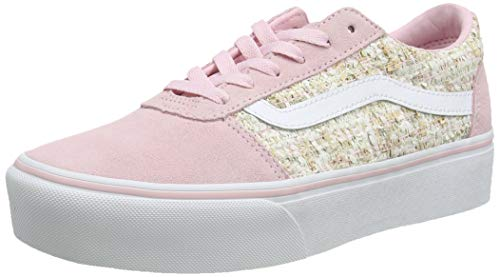 Vans Ward Platform Suede, Zapatillas para Mujer, Rosa ((Tweed) Chalk Pink Vw4), 39 EU