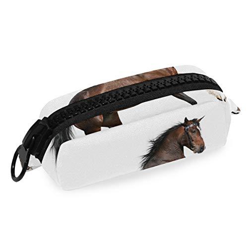 DEZIRO Make-up Bag Reizen Cosmetische Tas Paard Mark voor Vrouwen Meisjes Make-up Borstels Tas