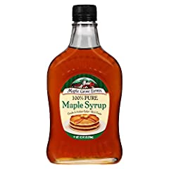 That's why our Grade A maple syrup is renowned for its wonderful flavor, color and consistency Most use it on pancakes, waffles or French toast, but the possibilities are endless Each serving of Maple Grove Farms Pure Maple Syrup contains no high fru...