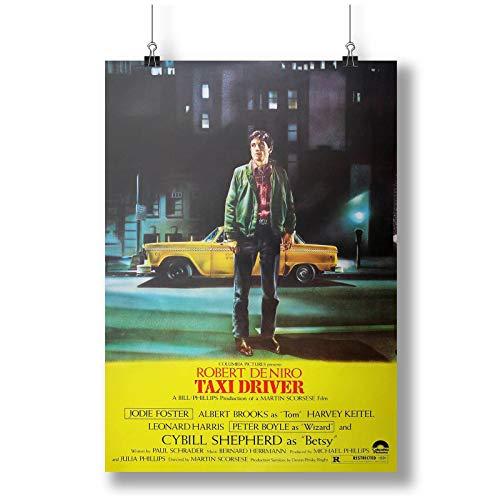 1976 Taxi Driver Film Movie A0 A1 A2 A3 A4 Affiche photo en satin p10415h