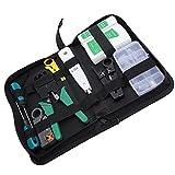 Kit de herramientas de mantenimiento de reparación de cables de red RJ45 RJ11 Tester de cable LAN Equipo estándar de stripper